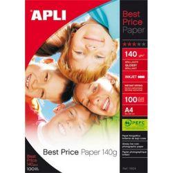 """APLI A4 140 g """"Best Price"""" tintasugaras fényes fotópapír (100 lap)"""