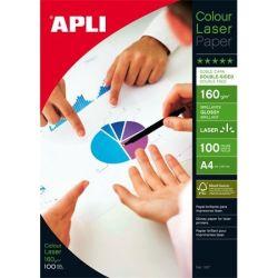 """APLI A4 160 g """"Premium Laser"""" lézer kétoldalas fényes fotópapír (100 lap)"""