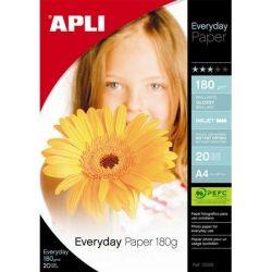 """APLI 10x15 cm 180 g """"Everyday"""" tintasugaras  fényes fotópapír (20 lap)"""