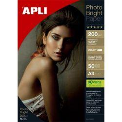 """APLI A3 200 g """"Photo Bright"""" tintasugaras fényes fotópapír (50 lap)"""