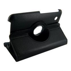 4World Samsung Galaxy Tab 2 műbőr Rotary, 7'', fekete tok-állvány