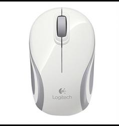 Logitech M187 Mini vezeték nélküli fehér egér