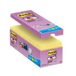 """3M POSTIT """"Super Sticky"""" 76x76 mm 16x90 lapos sárga öntapadó jegyzettömb csomag"""