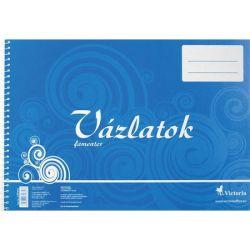 VICTORIA  Vázlatfüzet, famentes, B4, spirál, 32 lap,