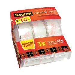"""3M SCOTCH """"Crystal"""" 19 mm x 7,5 m kézi ragasztószalag adagoló 2+1 akció"""