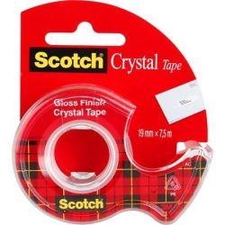 """3M SCOTCH """"Crystal"""" 19 mm x 7,5 m kézi ragasztószalag adagolón"""