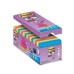 """3M POSTIT """"Super Sticky"""" """"Z"""" 76x76 mm 16x90 lapos vegyes öntapadó jegyzettömb csomag"""
