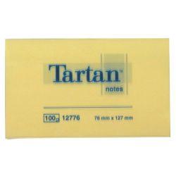 TARTAN 127x76 mm 100 lapos sárga öntapadó jegyzettömb (12 tömb/csomag)
