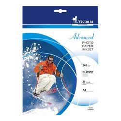 """VICTORIA """"Advanced"""" A4, 240 g, fényes tintasugaras fotópapír"""