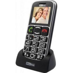 Maxcom MM462BB fekete mobiltelefon nagy gombokkal vészhívóval