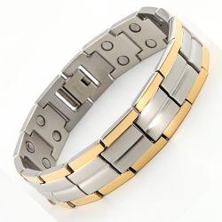 Jade Mens 12  L ( 22 cm ) arany-ezüst mágneses karkötő
