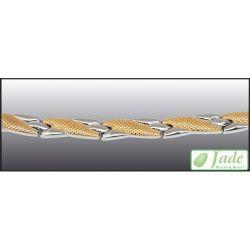 Jade Brillance set 12 (19,3 cm) M méret arany-ezüst mágneses karkötő