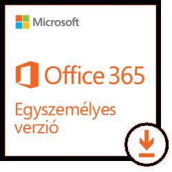 Microsoft 365 Personal (Egyszemélyes verzió) 1 Felhasználó 1 Eszköz 1 év Elektronikus licenc szoftver