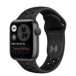 "Apple Watch Nike Series 6 Oled 1.57"" 40mm GPS 4G antracit-fekete sportszíjas okosóra"