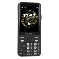 """myPhone Halo Q+ 2,8"""" 128 MB Dual SIM 3G fekete mobiltelefon"""