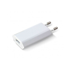 Techly Slim 230V, 5V/1A fehér USB töltő