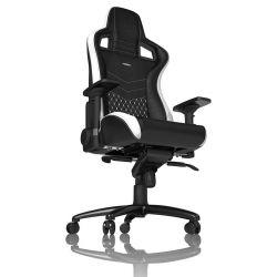 Noblechairs EPIC BŐR Fekete/Fehér/Piros Gamer szék