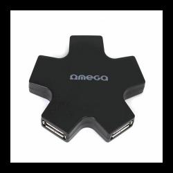 OMEGA 4 Port fekete 2.0 USB HUB