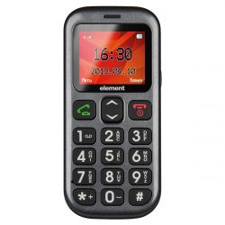 "Sencor Element P001S 1.77"" Dual SIM 2G fekete mobiltelefon"