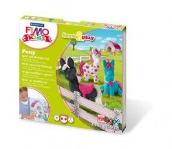 """FIMO """"Kids Form & Play"""" égethető pónik gyurma készlet (4x42 g)"""