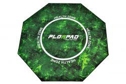 Florpad Health Zone 120x120x0,4 cm fekete-zöld gamer szőnyeg