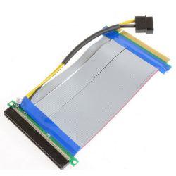 Kolink Riser PCI-express X16 - X16 + molex szürke kábel