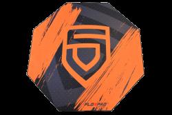 Florpad Penta 120x120x0,4 cm fekete-narancs gamer szőnyeg