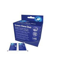 """AF """"Screen-Clene Duo"""" 20 db nedves-száraz kendőpár képernyő tisztító kendő"""