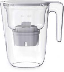 Philips Pitcher Micro Xclean 2,6 L Átlátszó, Fehér vízszűrő kancsó