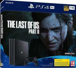 Sony Playstation 4 Pro 1TB fekete játékkonzol + The Last of Us Part II játékszoftver