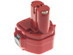 Green Cell PT02 Makita 1222 1050D 4191D 6271D 6835D 8413D 12V, 2Ah, Ni-MH piros-fekete akkumulátor