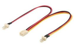 PremiumCord kn-22 1x F - 2x M 3pin TX 22 cm többszínű ventilátor elosztó kábel