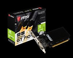 MSI GT 710 2GD3 LP nVidia, PCIE, DDR3, 64bit, Aktív videókártya