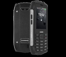 """myPhone Hammer 4+ 2,8"""" 128MB Dual SIM 3G fekete csepp-, por- és ütésálló mobiltelefon"""