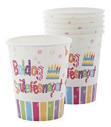 """2,5 dl """"Boldog születésnapot"""" papír pohár"""