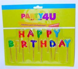 """""""Happy birthday"""" születésnapi betűs gyertya"""