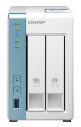 QNAP TS-231P3 AlpineAL314 1,7GHZ 4GB SO-DIMM DDR3 Fehér NAS szerver