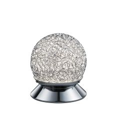 TRIO Ringo 5W 16 cm alumínium/króm asztali lámpa