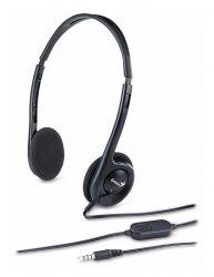 Genius HS-M200C Jack fekete mikrofonos fejhallgató