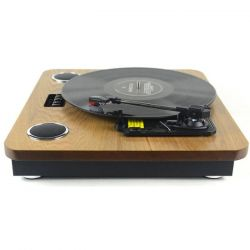 Akai ATT-09 2.4 W, 33,3/ 45/ 78 RPM barna-fekete retro lemezlejátszó