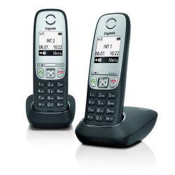 Gigaset A415 Duo ezüst/fekete vezeték nélküli (DECT) telefon