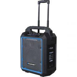Blaupunkt MB10, 600W Bluetooth, FM/SD/USB/AUX/Karaoke fekete-kék hordozható hangfal