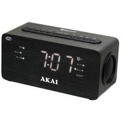 Akai ACR-2993 PLL FM, Bluetooth 2.1 fekete rádiós ébresztőóra USB töltővel