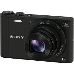 Sony DSC-WX350B 20x optikai zoom fekete kompakt digitális fényképezőgép