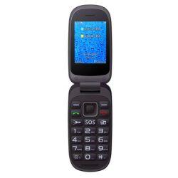 """Alcor Handy 2.4"""" 2G összecsukható fekete mobiltelefon"""