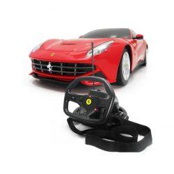 Rastar Ferrari F12 1:18 piros távirányítós autó kormány alakú távirányítóval