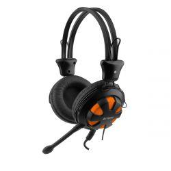 A4-Tech HS 28 Jack narancs mikrofonos fejhallgató