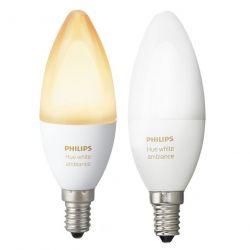 Philips Hue White Ambiance 6W / 40W  E14 2200-6500K fehér szabályozható 2db LED fényforrás