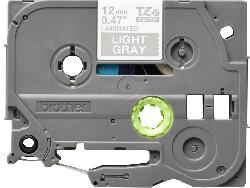 Brother TZe-MQL35 (12mm) - 5m szürke alapon fehér eredeti laminált P-touch szalag