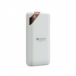 CANYON CNE-CPBP20W 20000 mAh, Li-Polymer, digitális kijelző fehér powerbank